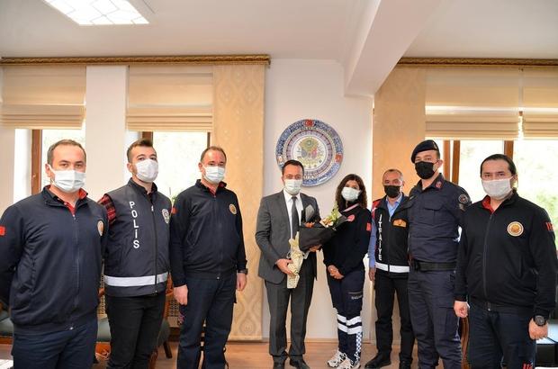 Vali Şentürk, ''112 Günü'' kapsamında Bilecik 112 Acil Çağrı Merkezi çalışanları kabul etti
