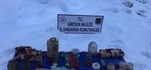 Giresun'da PKK'lıların kullandığı erzak deposu bulundu