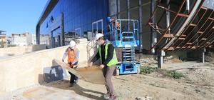 Bölgeye hitap edecek sosyal tesis Haziran sonunda tamamlanıyor Aktepe Sosyal Tesisleri'nde çalışmalar başladı