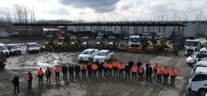 Terme'de kar teyakkuzu 27 araç ve 100 kişilik ekip hazır