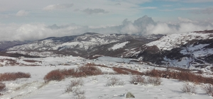 Ordu'dan kartpostallık kar manzaraları Yüksek kesimlerde etkili olan kar yağışı sonrası karpostallık görüntüler oluştu