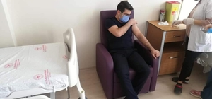 Kaymakam Dolaş korona virüs aşısı oldu