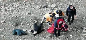Malatya'da uçuruma yuvarlanan genç yaralandı