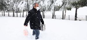 Soğuk kış günlerinde ihtiyaç sahiplerinin içini ısıtan hizmet