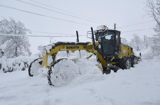 Tekkeköy'de topyekun kar mücadelesi