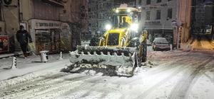 Giresun'da karla mücadele aralıksız sürdürülüyor
