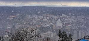 Karaisalı'ya kar yağdı