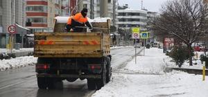 Atakum'da karla mücadele