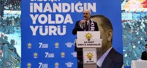 """Kurtulmuş: """"Geçmişte askeri vesayeti devreye sokarak darbe yapanlar vardı, şimdi TSK kendi işini yapıyor"""" AK Parti Genel Başkan Vekili Numan Kurtulmuş, partisinin Ordu 7'nci Olağan İl Kongresinde konuştu: """"Türkiye'de akla hayale gelmeyecek işler yapıldı"""" """"TSK, yurt içi ve yurt dışında teröristlere göz açtırmıyor"""" """"Biz, namlusunu halka döndürmüş olan bir ordu istemiyoruz"""""""