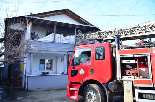 Engelli vatandaşın evinde çıkan yangın