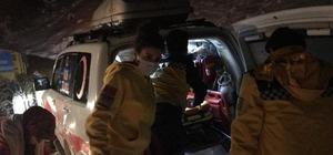 Yolu kapanan köydeki hastanın imdadına karla mücadele ekipleri yetişti