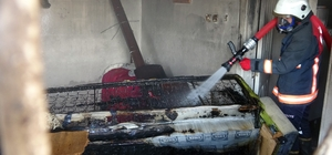 Müstakil evde çıkan yangın mahalleliye panik yaşattı