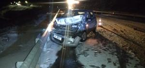 Malatya'da kar yağışı kazalara neden oldu