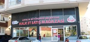Manavgat Halk Et Satış Mağazası 1 yılda 50 ton et ve et ürünü sattı