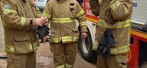 Evde çıkan yangında bir kişi hastaneye kaldırıldı