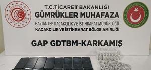 Karkamış'ta bin 200 paket kaçak sigara ve 16 adet cep telefonu ele geçirildi