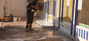 Ergani otogarında dezenfekte çalışmaları
