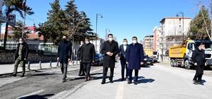 Başkan Gürkan ve Milletvekili Tüfenkci yol genişletme çalışmalarını inceledi
