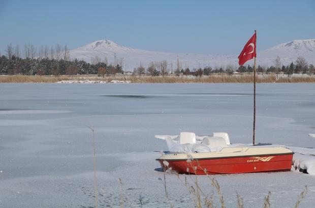 Donan gölde balık umudu Buz tutan gölde kartpostallık görüntüler Sibirya soğuklarının yaşandığı Sivas'ta Ulaş gölünün yüzeyi tamamen buzla kaplandı. Hava sıcaklığının eksi 19 dereceye kadar düştüğü ilçede suya dair ne varsa buz tuttu