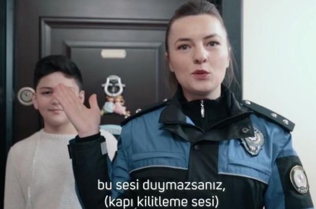 Samsun polisi evden hırsızlık olaylarına dikkat çekmek için kamu spotu hazırladı