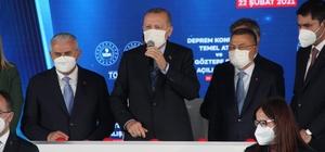 """Cumhurbaşkanı Erdoğan'dan binalarda güçlendirme yerine yenileme çağrısı Cumhurbaşkanı Erdoğan, İzmir'de deprem konutlarının temelini atıp, Göztepe Gürsel Aksel Stadı'nın açılışını yaptı Cumhurbaşkanı Recep Tayyip Erdoğan: """"(Rıza Bey Apartmanı alanı) Bu alana depremde kaybettiğimiz vatandaşların hatırlarını yaşatacak, hem de deprem bilincinin hafızalarda kalacağı bir yer olarak düzenleyeceğiz"""" """"Bugün ilk etapta deprem nedeniyle yıkılan alanlarda bin 444 konut ve 208 dükkan ile rezerv alanımızda yapılacak 397 konutumuzun temelini atıyoruz"""" """"Önümüzdeki dönemlerde İzmir'i tarihine ve potansiyeline uygun çok daha büyük projelerle tanıştırmak için sabırsızlanıyoruz"""" """"Konutlarını riskli yapı statüsüne dönüştüren vatandaşlarımız için mevcut yapılarının bir buçuk katına kadar yapacakları inşaat taahhüt işlerinde KDV oranını yüzde 18'den yüzde 1'e indirdik"""""""