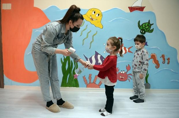 Çocuklar Bilgi Evleri'nde sevgiyle yetişiyor Bilgi Evleri'nde tedbirli eğitim
