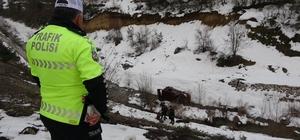 Yoldan çıkan araç uçurumdan dereye yuvarlandı: 2 yaralı