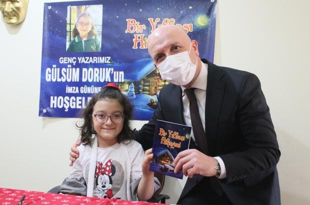 Engel tanımayan minik yazar, öykü kitabı yazdı Başkan Özbaş, bedensel engelli 10 yaşındaki yazarın imza gününe katıldı