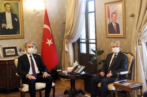 Adalet Bakanı Gül Hatay'da Bakan Adulhamit Gül, Adalet Sarayını ve Hatay Valiliğini ziyaret etti