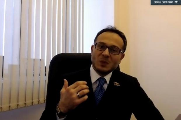 """Ramil Hasan: """"Azerbaycan ile Türkiye arasındaki ilişkiler diğer Türk devletlerine örnek olacak"""" Hocalı Katliamı'nın yıldönümünde SAMÜ'de """"Karabağ Zaferi"""" konuşuldu"""