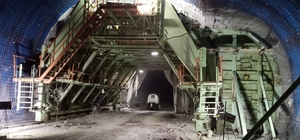 Türkiye'nin en uzun üçüncü tünelinde sona doğru Eğribel Tüneli projesinde 2021 yılı sonlarına doğru geçişlerin yapılması planlanıyor