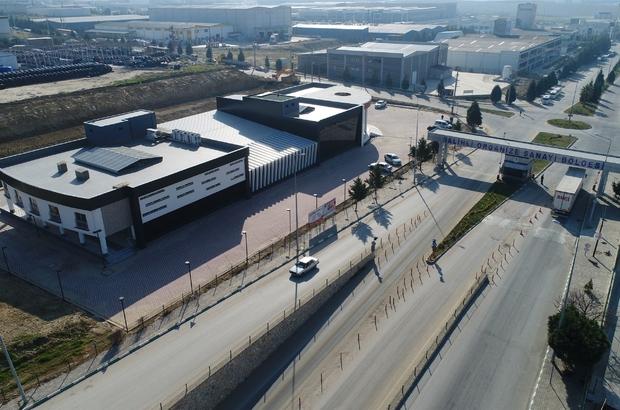 """Salihli OSB, prefabrik binadan modern binaya geçiş yaptı Başkan Kayda: """"Salihli OSB'ye modern hizmet binası kazandırdık"""""""