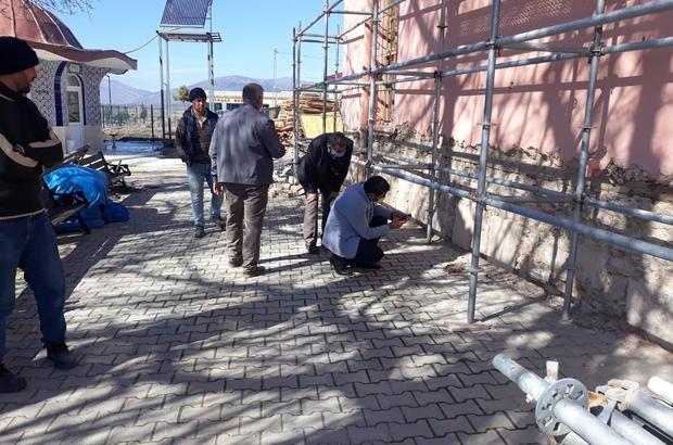 Hüyük'teki tarihi cami restore ediliyor