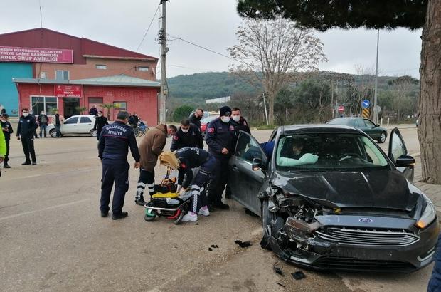 Erdek'te trafik kazası: 2 yaralı