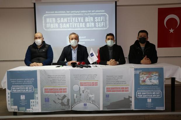İnşaat mühendislerinden 'şantiye şefliği' açıklaması