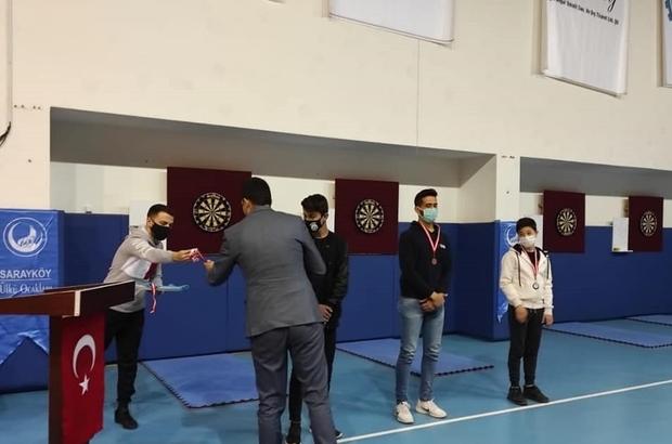 Denizli'de dart turnuvası sona erdi