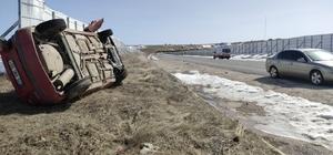 Malatya'da 112 personelleri kaza yaptı