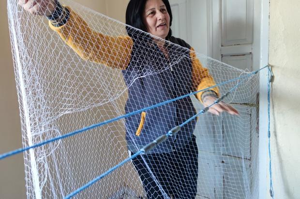 Hataylı Seher Aşker 36 yıldır balıkçılık yapıyor Seher Aşker, 9 yaşından beri ailesi ile beraber ağ örüp balık avına çıkıyor Bölgedeki kadın balıkçılara devlet tarafından konteyner tahsis edildi