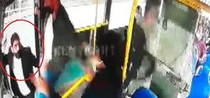 Tek HES kodu ile binmek için direttikleri otobüsün sürücüsünü darp ettiler Kuralsızlığa izin vermeyen sürücüyü bıçaklamak istediler Otobüs şoförü bıçaklı saldırıdan son anda kapıyı kapatarak kurtuldu
