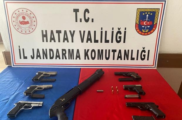 İş yerinde 7 adet ruhsatsız silah ele geçirildi