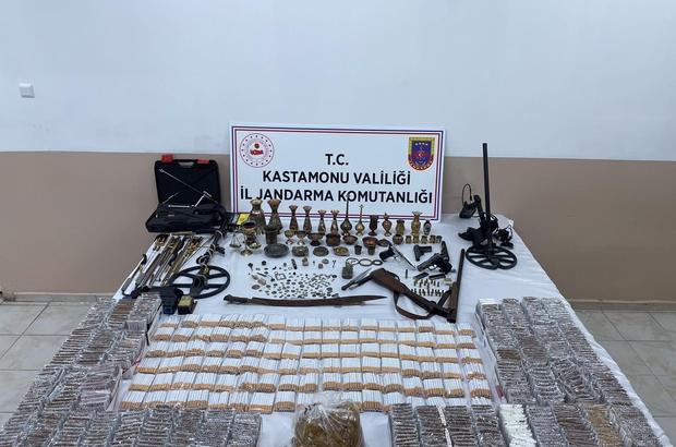 Kastamonu jandarma ekipleri çok sayıda tarihi eser ele geçirdi