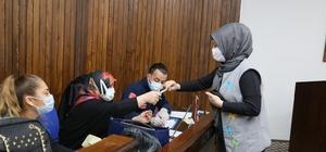 Edremit Belediyesi personeline Covid-19 testi yapıldı Edremit Belediye personeline Covid-19 testi