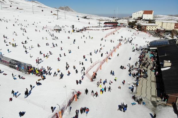 Erciyes'te denetimler artırıldı, pistler turistlere kaldı