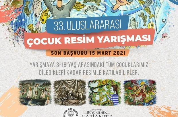 Gaziantep'te yetenek avı 33. Uluslararası Çocuk Resim Yarışması için geri sayım başladı