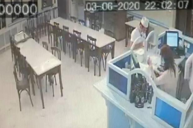 Meşhur kebapçıdan böyle çalmışlar Bursa'da kebapçıdaki hırsızlık anları güvenlik kamerasında