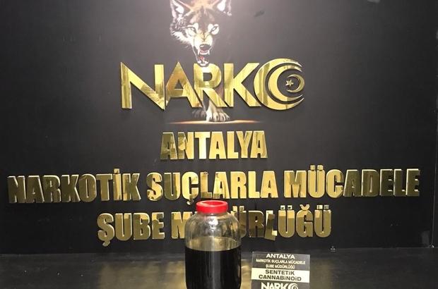 Antalya'da en yüksek miktarda uyuşturucu ele geçirildi Sıvı 6 kilo 560 gram sentetik kannobinoidin 500 bin kullanımlık olduğu öğrenildi