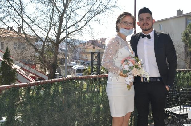 Normalleşme sonrası Çan'da ilk nikah kıyıldı