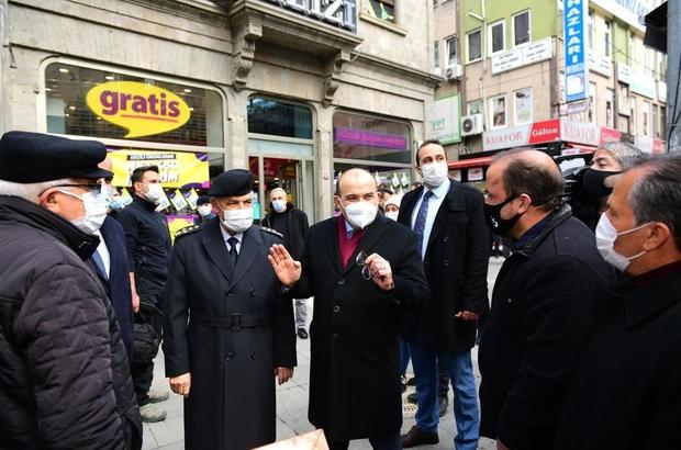 """Pandemide kırmızı alarm veren Trabzon'da Korona virüs denetimlerine Jandarma Genel Komutanı da katıldı Jandarma Genel Komutanı Orgeneral Arif Çetin: """"Herkes öncelikle kendi tedbirlerini alacak"""""""