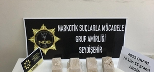 Konya'da 4 kilo eroin ele geçirildi