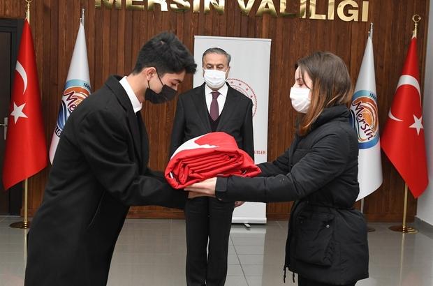 Şanlı Türk bayrağı Mersin'den Çanakkale'ye uğurlandı
